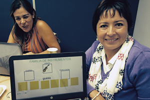 Two teachers in PPD workshop, Mexico